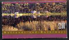 Booklet - Australia 1992 Wetlands & Waterways $2 booklet complete and very fine, SG SB76