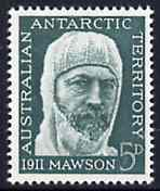 Australian Antarctic Territory 1961 Anniversary of Australian Antarctic Expedition (Sir Douglas Mawson) unmounted mint, SG 7*