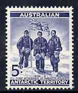 Australian Antarctic Territory 1961 5d blue (Expedition Members) unmounted mint, SG 6