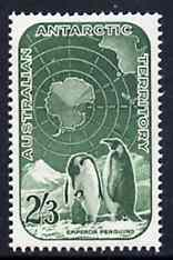 Australian Antarctic Territory 1959 Penguins 2s3d green unmounted mint SG 5
