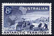 Australian Antarctic Territory 1959 Weazel & Team 8d on 7d unmounted mint, SG 3