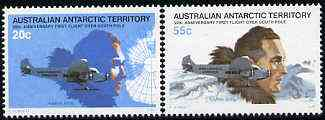 Australian Antarctic Territory 1979 Anniversary of First Flight Over S Pole set of 2 unmounted mint SG 35-36*
