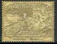 Easdale 1992 Columbus 500th Anniversary \A310 (The Unceremonial Return) embossed in 22k gold foil unmounted mint