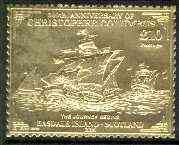 Easdale 1992 Columbus 500th Anniversary \A310 (The Journey Begins) embossed in 22k gold foil unmounted mint