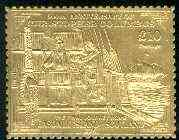 Easdale 1992 Columbus 500th Anniversary \A310 (The Final Journey Home) embossed in 22k gold foil unmounted mint