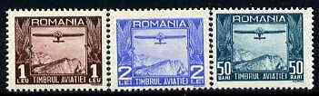 Rumania 1931 Postal Tax Air set of 3 unmounted mint, SG T1216-18, Mi 12-14