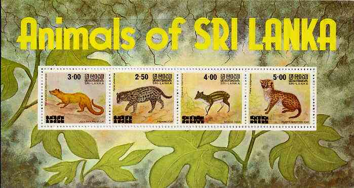 Sri Lanka 1981 Animals m/sheet containing set of 4 unmounted mint, SG MS 722