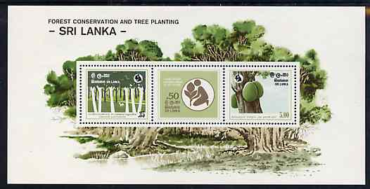 Sri Lanka 1981 Forest Conservation m/sheet containing set of 3 unmounted mint, SG MS 748
