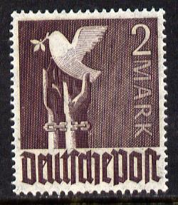 Germany 1947 Dove of Peace 2m violet unmounted mint, SG 946