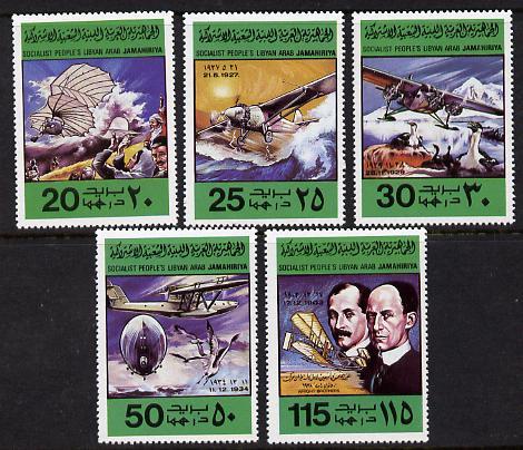 Libya 1978 Flight Anniversary set of 5 unmounted mint, SG 855-9