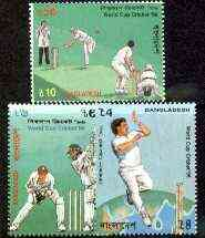 Bangladesh 1996 Cricket World Cup set of 3 unmounted mint, SG 593-96*