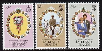 Falkland Islands 1981 Royal Wedding set of 3 (SG 402-4) unmounted mint