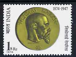 India 1974 Birth Centenary of Prof Roerich (Humanitarian) unmounted mint SG 746