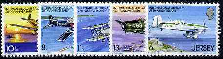Jersey 1979 Anniversary of International Air Rally set of 5 unmounted mint, SG 208-12
