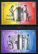 Jersey 1979 Europa (Communications) set of 4 (2 se-tenant pairs) unmounted mint, SG 204-07
