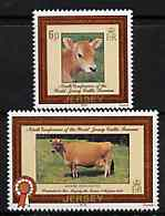 Jersey 1979 World Jersey Cattle Bureau Conference set of 2 unmounted mint, SG 202-03