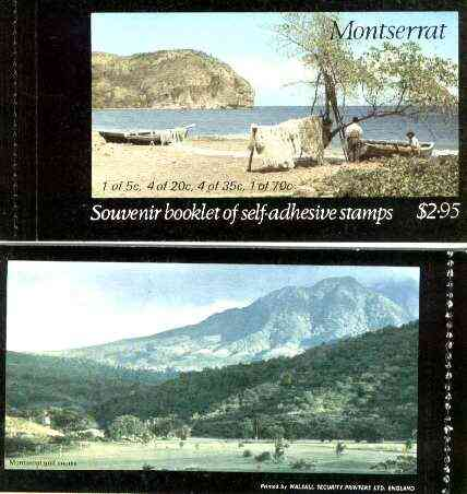 Booklet - Montserrat 1975 Carib Artefacts booklet containing self-adhesive panes, SG SB1 (Golf Course on back cover)