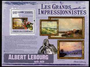 Comoro Islands 2009 Impressionists - Albert Lebourg perf s/sheet unmounted mint