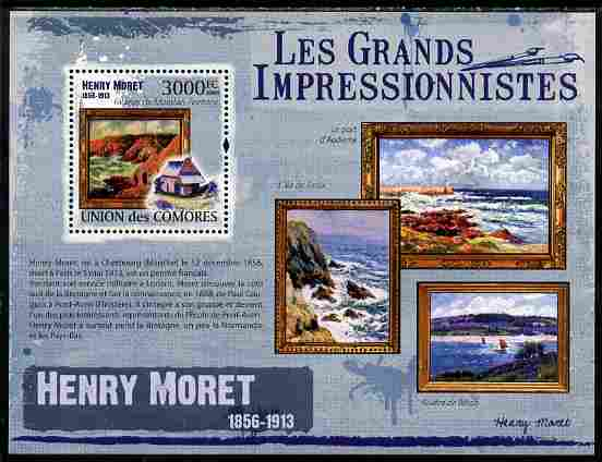 Comoro Islands 2009 The Impressionists - Henry Moret perf souvenir sheet unmounted mint