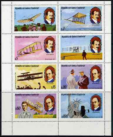 Equatorial Guinea 1979 Flight Anniversary of Wright Brothers complete perf set of 8 values unmounted mint