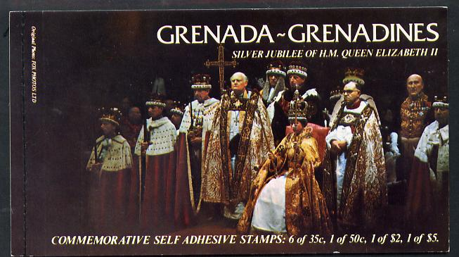 Booklet - Grenada - Grenadines 1977 Silver Jubilee Booklet (SG SB1) containing SG 219a & 220a