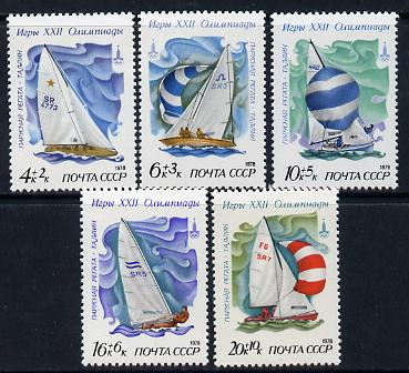 Russia 1978 Olympic Sports #4 (Sailing) set of 5 unmounted mint, SG 4820-24, MI 4781-85