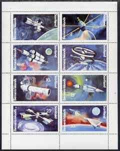 Bernera 1978 Spacecraft complete perf  set of 8 values (1p to 30p) unmounted mint