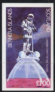 Bernera 1978 Spacecraft (Landing Craft) imperf  souvenir sheet (�1 value) unmounted mint