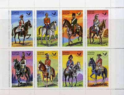 Staffa 1976 USA Bicentenary (Military Uniforms - On Horseback) complete perf  set of 8 values unmounted mint