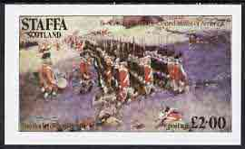 Staffa 1976 USA Bicentenary (Battle of Bunker Hill) imperf deluxe sheet (�2 value) unmounted mint