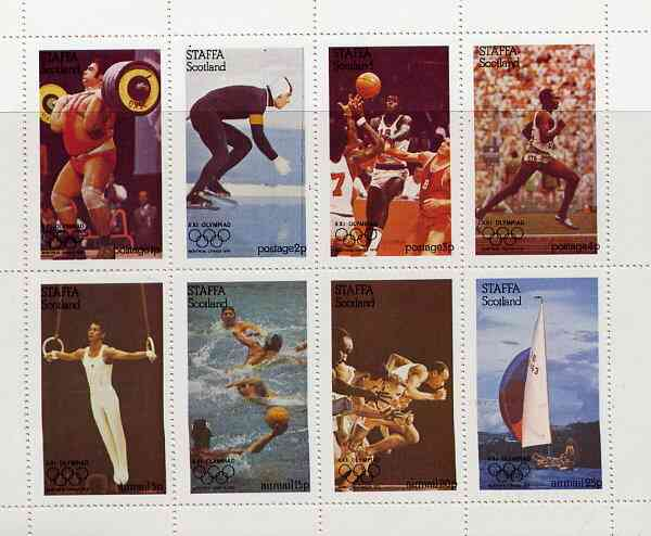 Staffa 1976 Montreal Olympic Games complete perf set of 8 values unmounted mint