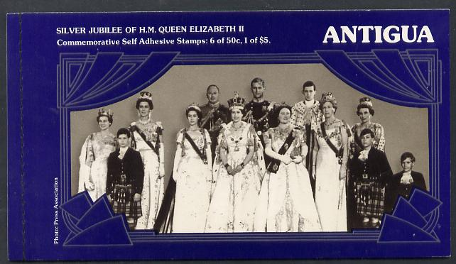 Booklet - Antigua 1977 Silver Jubilee Booklet containing SG 532a & 533a self-adhesive panes SG SB2