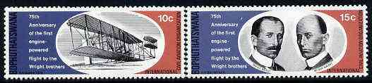 Bophuthatswana 1978 Wright Brothers set of 2 unmounted mint, SG 33-34