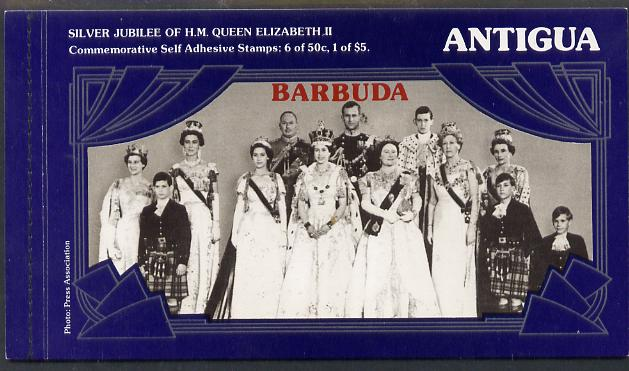 Booklet - Barbuda 1977 Silver Jubilee Booklet containing SG 329a & 330a self-adhesive panes, SG SB1