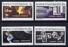 Bophuthatswana 1979 Platinum Industry set of 4 unmounted mint, SG 47-50