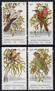 Bophuthatswana 1980 Birds set of 4 unmounted mint, SG 60-63