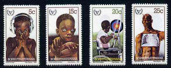 Bophuthatswana 1981 International Year of the Disabled set of 4 unmounted mint, SG 68-71*