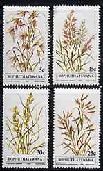 Bophuthatswana 1981 Indigenous Grasses #1 set of 4 unmounted mint, SG 80-83