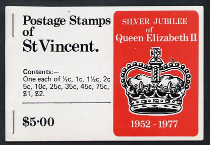 Booklet - St Vincent 1977 Silver Jubilee Booklet containing SG 515a, 519a & 523a, booklet SG SB5