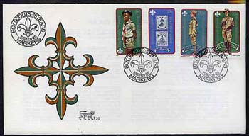 Bophuthatswana 1981 75th Anniversary of Boy Scout Movement set of 4 on unaddressed illustrated cover with special first day cancel (SG 84-87)