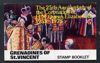 Booklet - St Vincent - Grenadines 1978 Coronation 25th Anniversary Booklet (Westminster Abbey) SG SB2