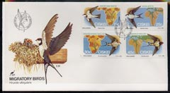 Ciskei 1984 Migratory Birds (Martins & Swallows) set of 4 on unaddressed illustrated cover with special first day cancel (SG 60-63)