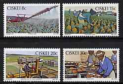 Ciskei 1982 Pineapple Industry set of 4 unmounted mint, SG 26-29
