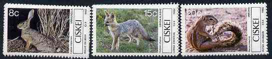 Ciskei 1982 Small Mammals set of 4 unmounted mint, SG 30-33*