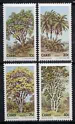Ciskei 1984 Indigenous Trees #2 set of 4 unmounted mint, SG 52-55*