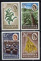 Rhodesia & Nyasaland 1963 World Tobacco Congress set of 4 unmounted mint, SG 43-46*