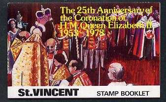 Booklet - St Vincent 1978 Coronation 25th Anniversary Booklet (Westminster Abbey) SG SB6