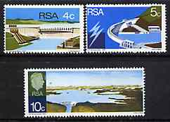 South Africa 1972 Verwoerd Dam set of 3 unmounted mint, SG 307-9*