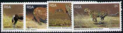 South Africa 1976 World Environment Day (Animals) set of 4 unmounted mint, SG 404-407*