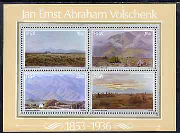 South Africa 1978 Birth Anniversary of Volschenk (painter) m/sheet containing set of 4 unmounted mint, SG MS 448